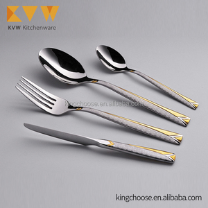 Top Quality Stainless Steel Dinner Set Flatware Cutlery Set 72 PCS Stock