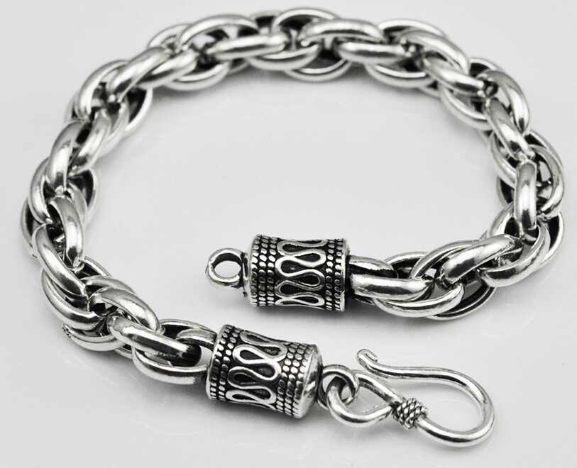 Thai Silver Jewelry 925 Bracelet Original Handmade Vintage Men And Women Chain Link Bracelets In From Accessories