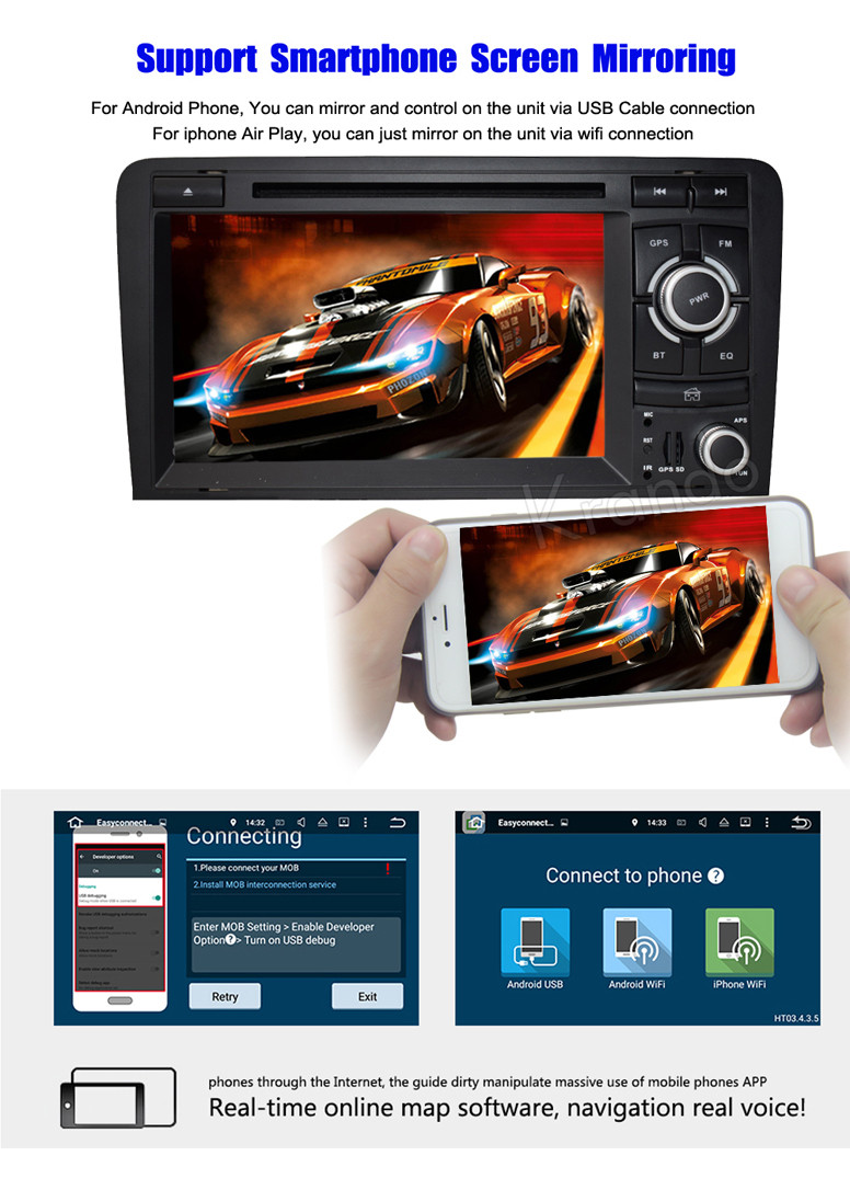 for audi a3 android navigation