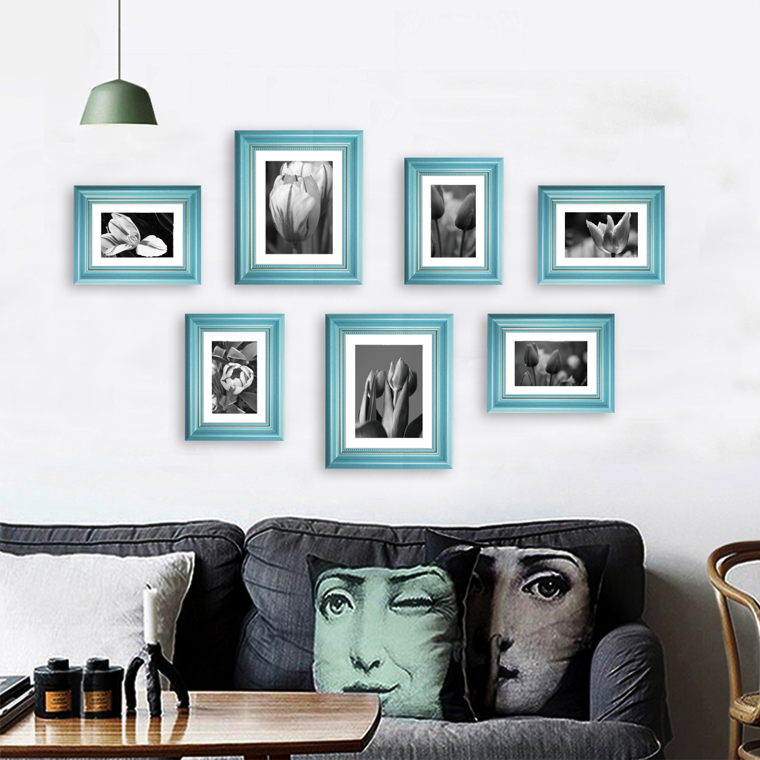 7 pack photo frame wall gallery kit Cheap picture frames Collage Set of 7