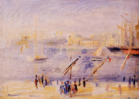 The Old Port of Marseille, People and Boats oil painting by Pierre-Auguste Renoir