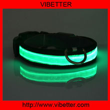 hot selling safety LED lighted pitbull spiked leather dog collar