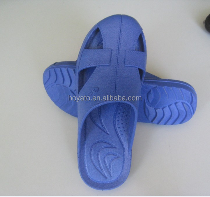 Wholesale HOYATO high quality cheap customized accept china anti static antistatic ESD Four-hole SPU Slippers