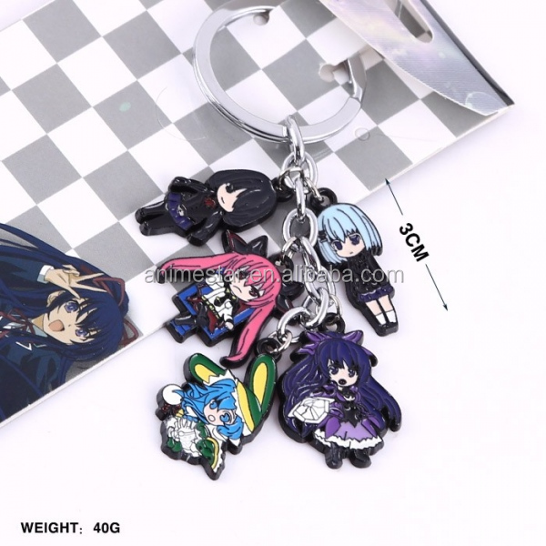 Date A Live Anime Key Chain Wholesale Anime Cosplay keychians