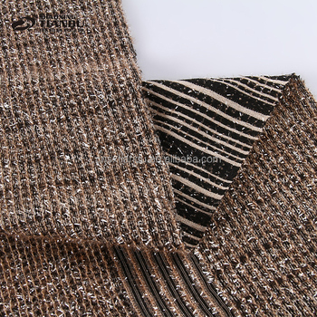 new design top quality cheap silver thread bonded tube knit polyester spandex fabric