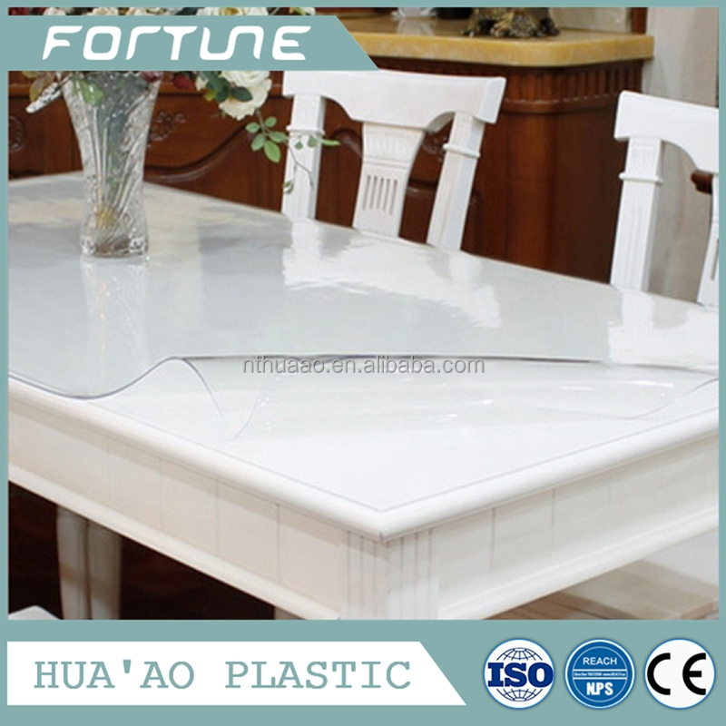 Crystal liquid clear plastic sheet pvc roll for tablecloth table cover
