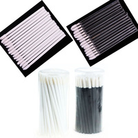 Cylinder Box Packed Disposable Lip Brush/ Lipstick Gloss Wands Applicator Brush Disposable makeup Applicator