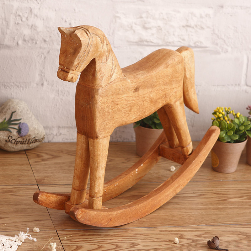 Buy Doll Furnishing Articles Resin Crafts Home Decoration: Popular Rocking Horse-Buy Cheap Rocking Horse Lots From