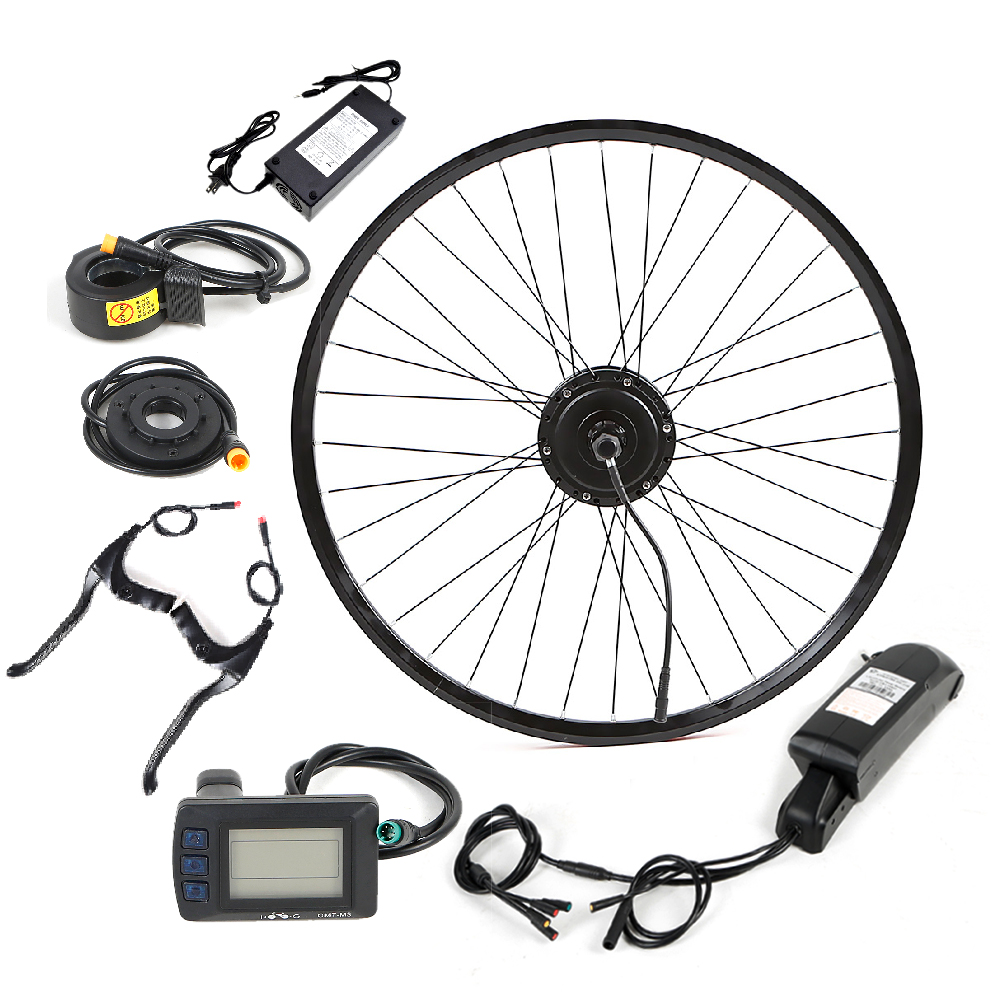 Hight Quality 36V 48V 250W 350W 500W 1000W 2000W 5000W Electric Bike Conversion Kit with Hub Motor, Black