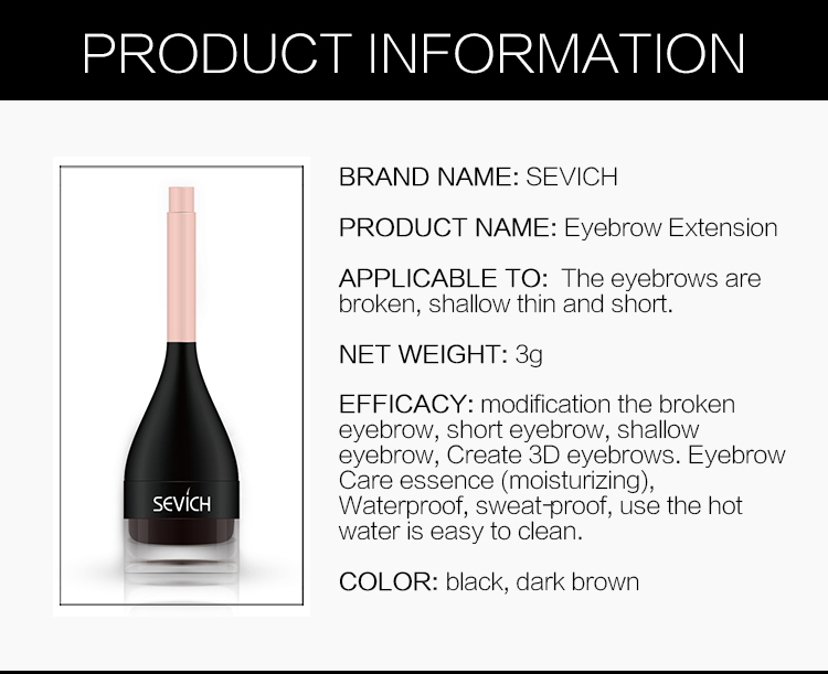Private Label Eyebrow Kit 3d Eyebrow Extensions for Women