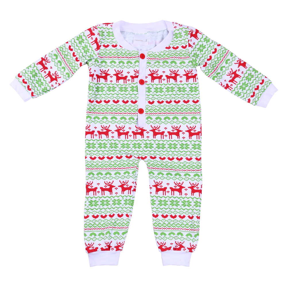 Newest Long Sleeve Baby Boys' Sleeping Rompers Infant Clothes Christmas Pajamas
