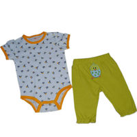 Babyland New Products Baby Romper Clothes Short Sleeve Cotton Clothing Free Drop Shipping
