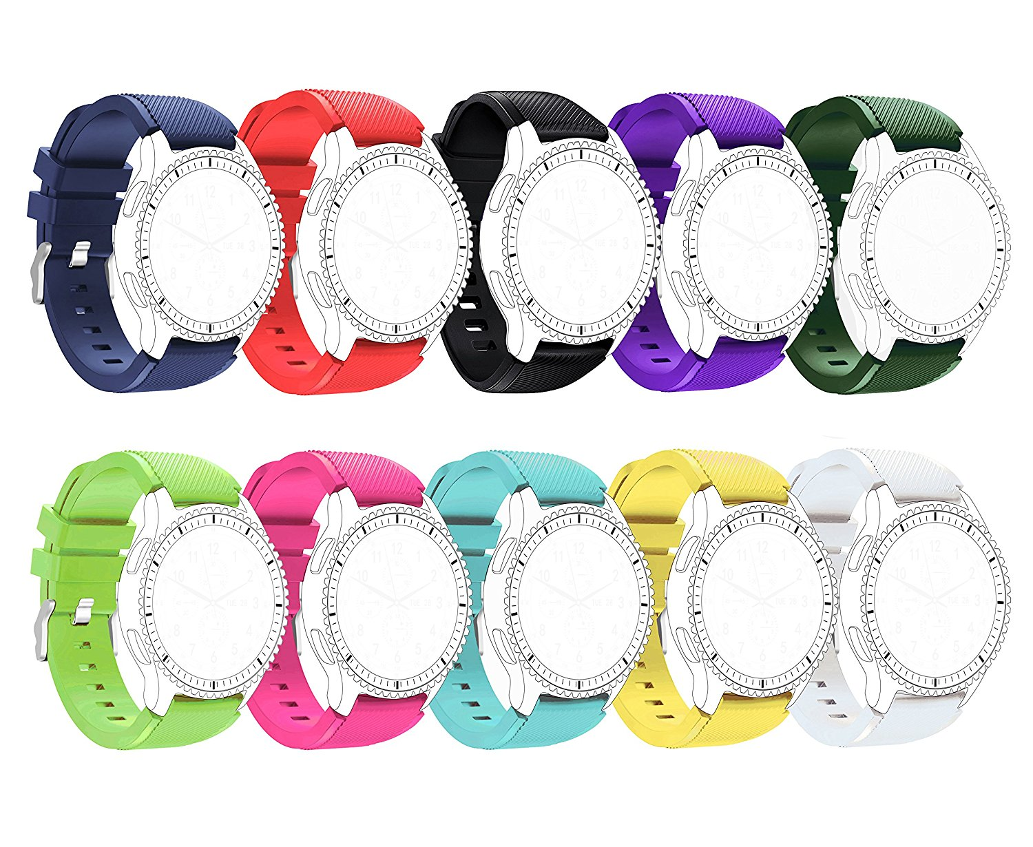 10 Colors Samsung Gear S3 Band, BeneStellar 46mm Smartwatch Replacement Band for Samsung Gear S3 Frontier / S3 Classic / Moto 360 2nd Gen