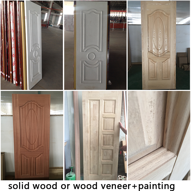 Customized mahogany exterior swing  solid wooden door
