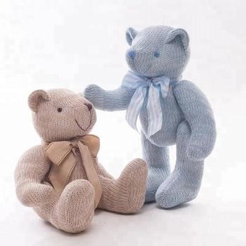 b129ff1afad0 New Kawaii 28cm/35cm Teddy Bears Plush Soft Toys Woolen Stuffed Animals  Joint Ted Bears