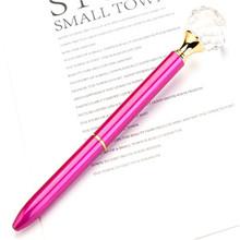 Большая Алмазная шариковая ручка, металлическая ручка, офисные принадлежности, Школьные Аксессуары, корейские Канцтовары, детский подарок(Китай)