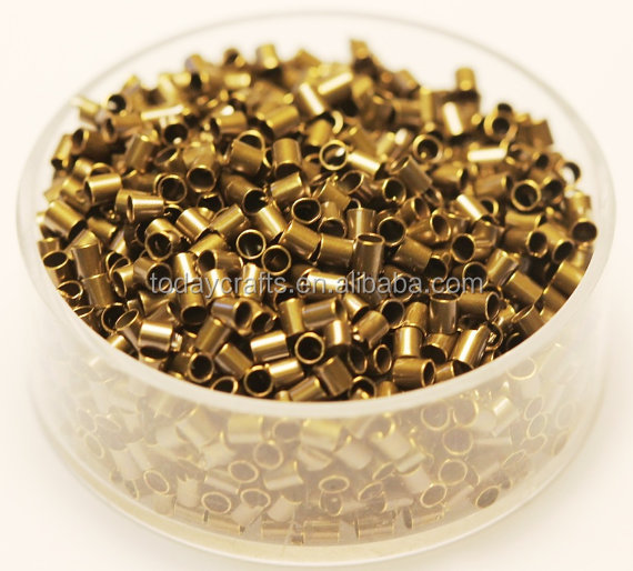 2015 hot sale Factory jewelry brass Crimp tube beads 4mm