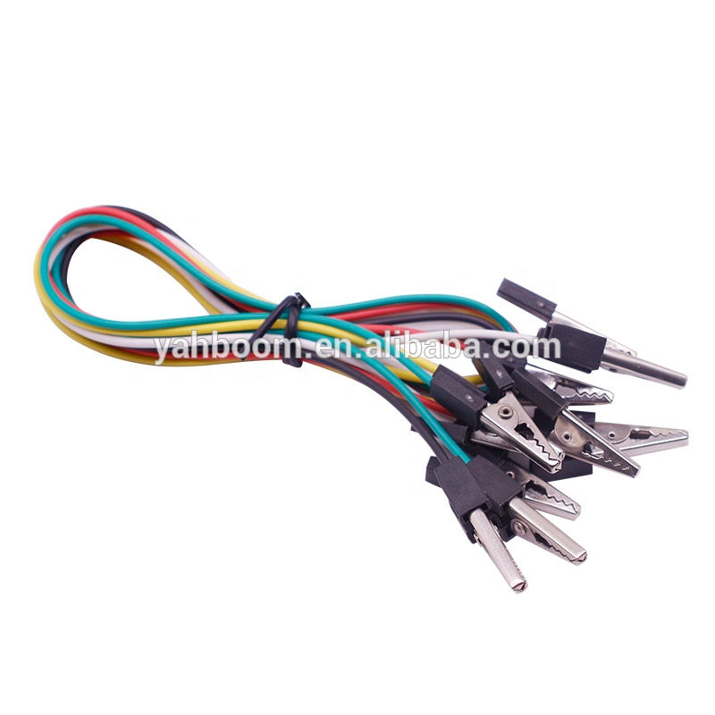 Yahboom new flat head user-friendly 5pcs/set 40cm double-end multi color microbit BBC alligator clip for micro:bit