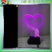 Creative 3d led night light 3d light box wood base acrylic material