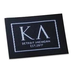 Clothing main labels custom silk woven labels with logo
