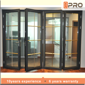 retractable interior doors magnet modern metal accordion Aluminum folding doors