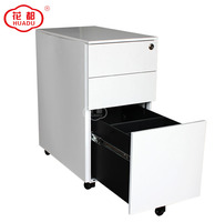 Luoyang Huadu thin line Colorful Office Equipment for A4 File Cabinet 3 Drawer mobile cabinet storage filing cabinet