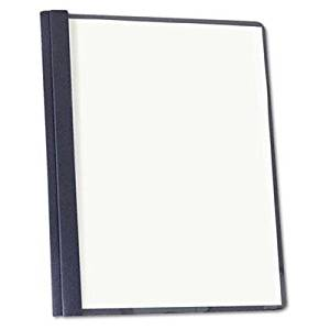 """Universal - Clear Front Report Cover Tang Fasteners Letter Size Dark Blue 25/Box """"Product Category: Binders & Binding Systems/Report Covers & Pocket Portfolios"""""""