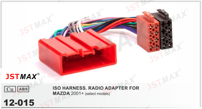 jstmax car iso radio cable adapter for mazda 2001 stereo. Black Bedroom Furniture Sets. Home Design Ideas