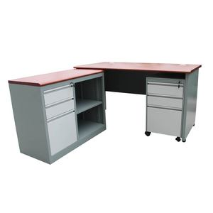 High Quality Modern Metal Study Table and Cabinet