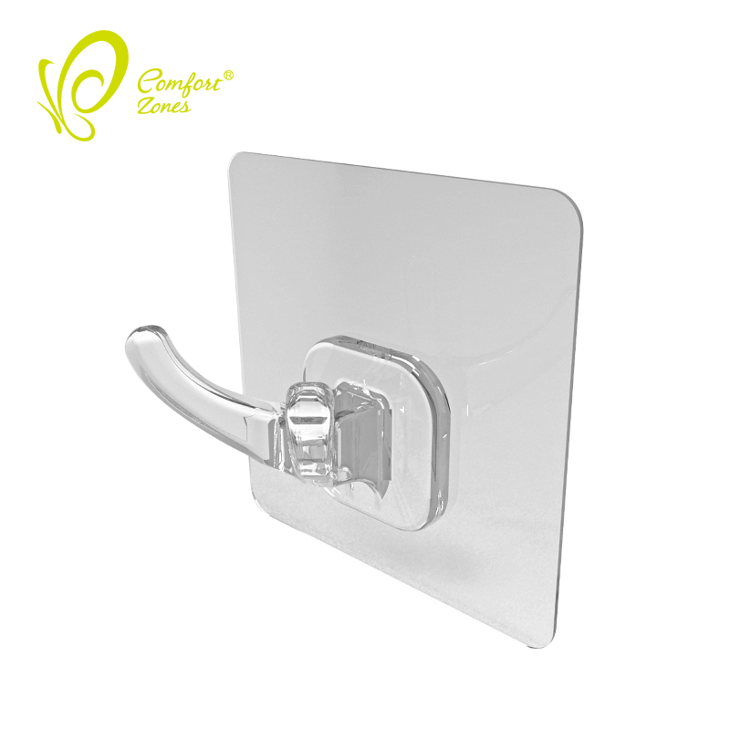 Magic Sticker Double Hook Back of Door Coat Hooks