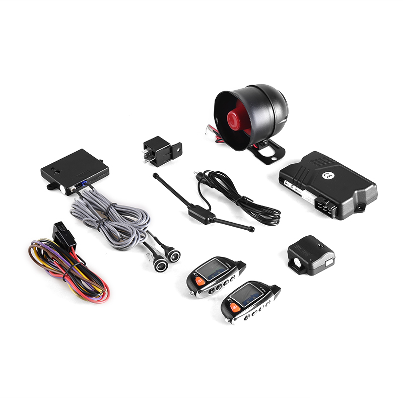 Two way keyless entry remote engine start stop one button start smart car alarm system