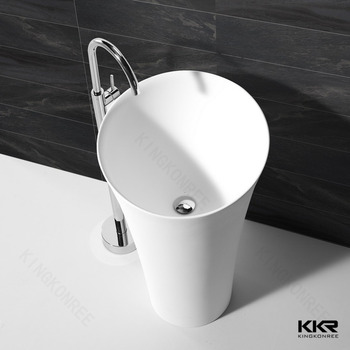 Modern Pedestal European Bathroom Freestanding Sink