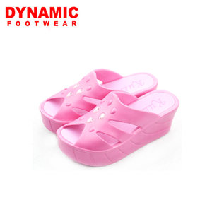 2017 fashion wholesale high heel women wedge eva pink slipper sandal