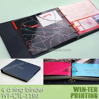wt ctl 1180 custom ring binder printing with brochure insert buy