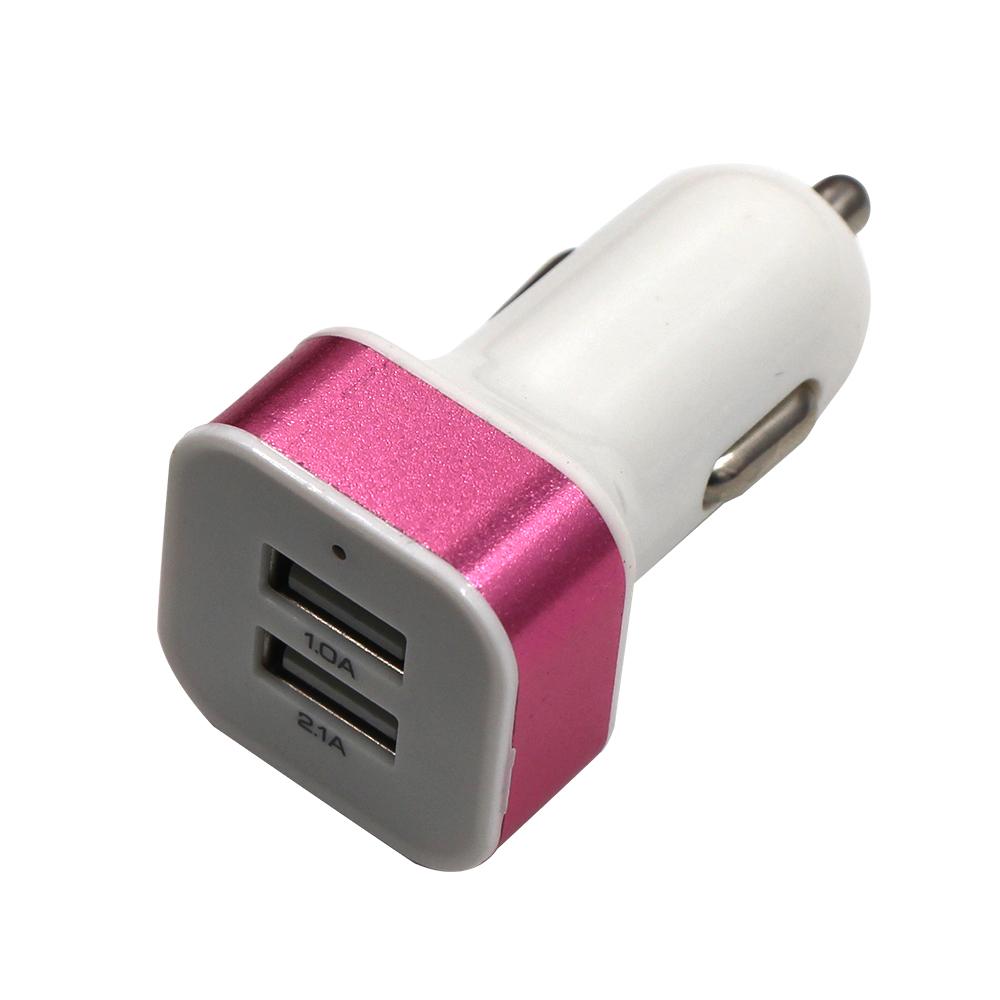 5 v 2.1a जल्दी चार्ज मोबाइल फोन तेजी से वायरलेस 2 यूएसबी पोर्ट धातु कार चार्जर