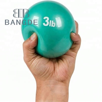 Hot selling colorful smooth surface small sand stress ball, soft gravity ball health gym ball