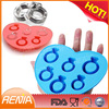 RENJIA norpro ice pop maker silicone ice cube tray diamonds square ice cube tray