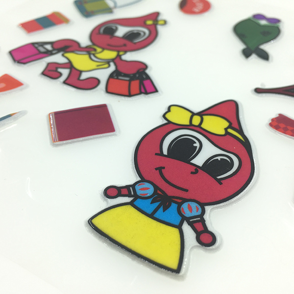 Factory Supply Eva Foam Glitter Sticker Custom Print Puffy - Custom glitter stickers