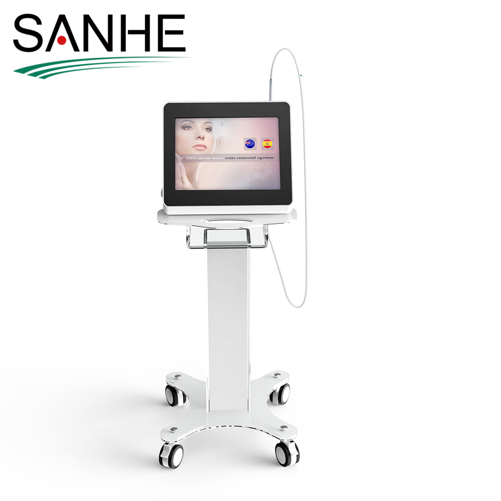 Sanhe 2017 portable vascular therapy machine / Various Spider Veins removal / 980nm diode laser couperose removal machine