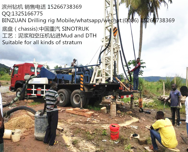 BINZUAN famous in Africa truck mounted water well drilling machine