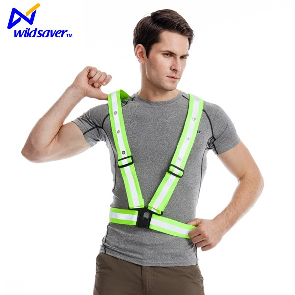 Custom LED reflective belt/reflective safety sash