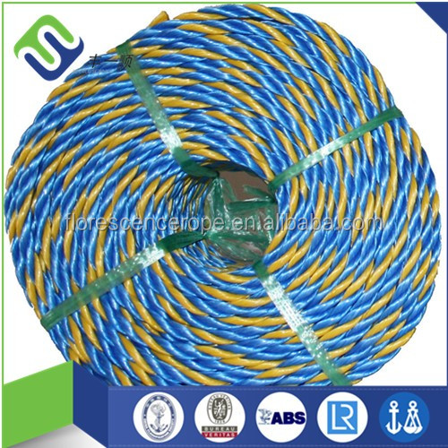 3 strand 4 strand pp twisted rope 6mm/8mm/10mm hot sale