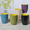 Haonai 400ml ceramic take away cup colorful ceramic coffee cup microwave safe cup with glaze
