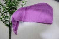 Antibacterial microfiber hair towel turban hair wrap