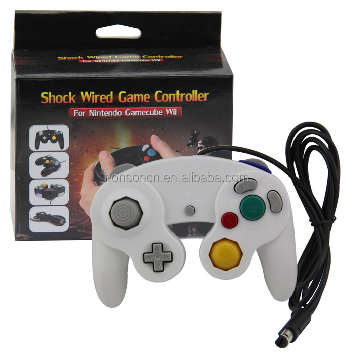 Alibaba.com / White Wired Game Controller for  NINTENDO NGC Game Cube Gamepad Joystick Controllers For Platinum mix colors 10 colors