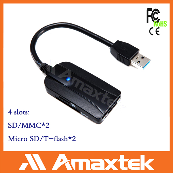 4 slot USB 3.0 all in one Memory Card Reader card Micro SD M2 Vista Windows 7