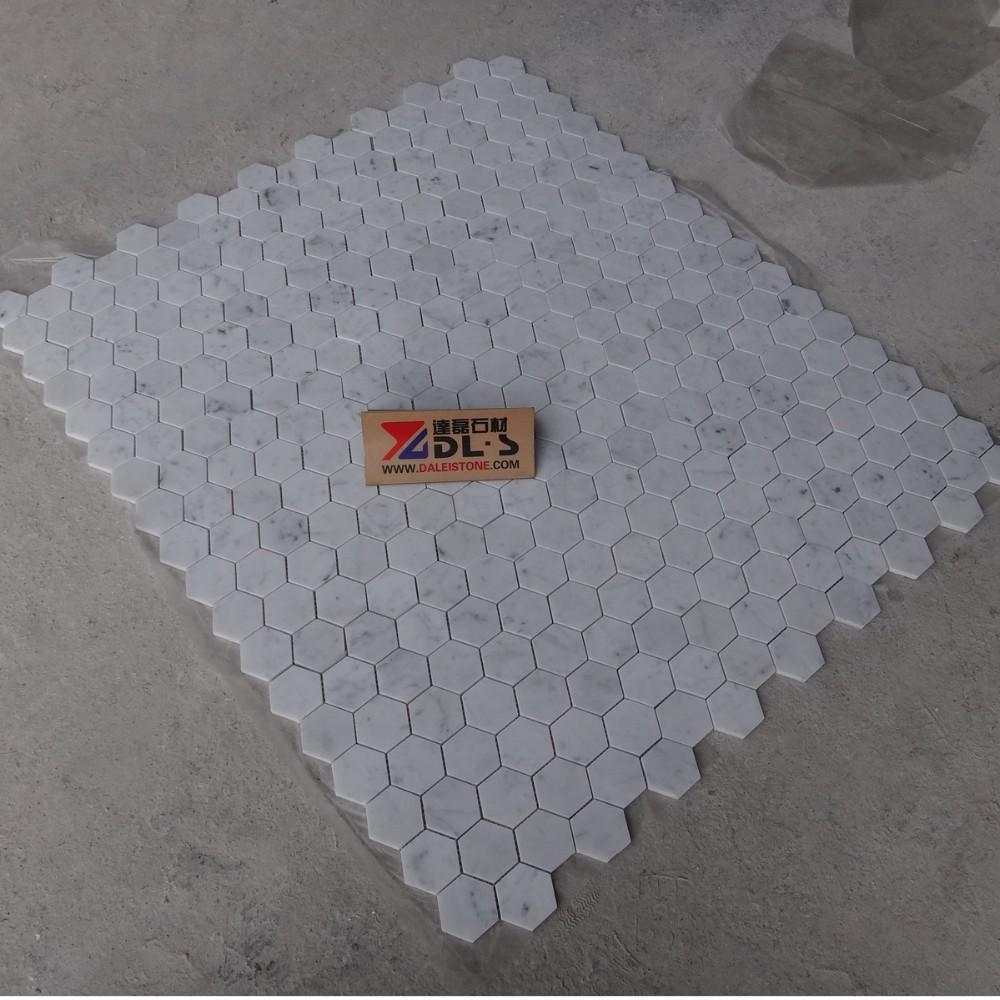 Bianco carrara marmol blanco mosaico de azulejos 12x12 - Marmol carrara precio ...