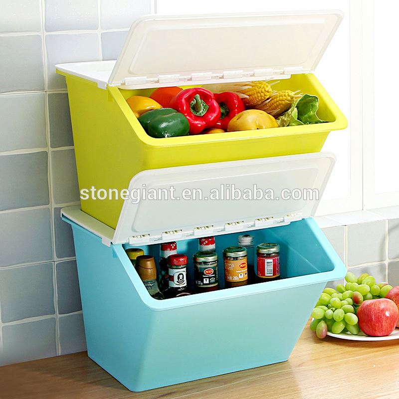 plastic . square microwave with double open storage box