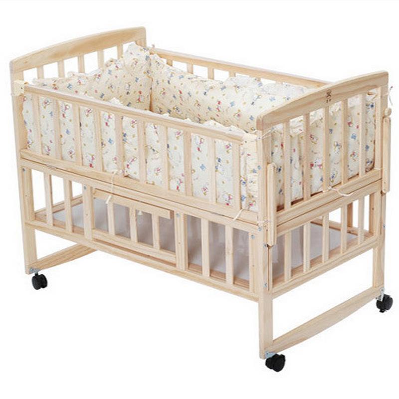 online kaufen gro handel solid wood baby cradle aus china solid wood baby cradle gro h ndler. Black Bedroom Furniture Sets. Home Design Ideas