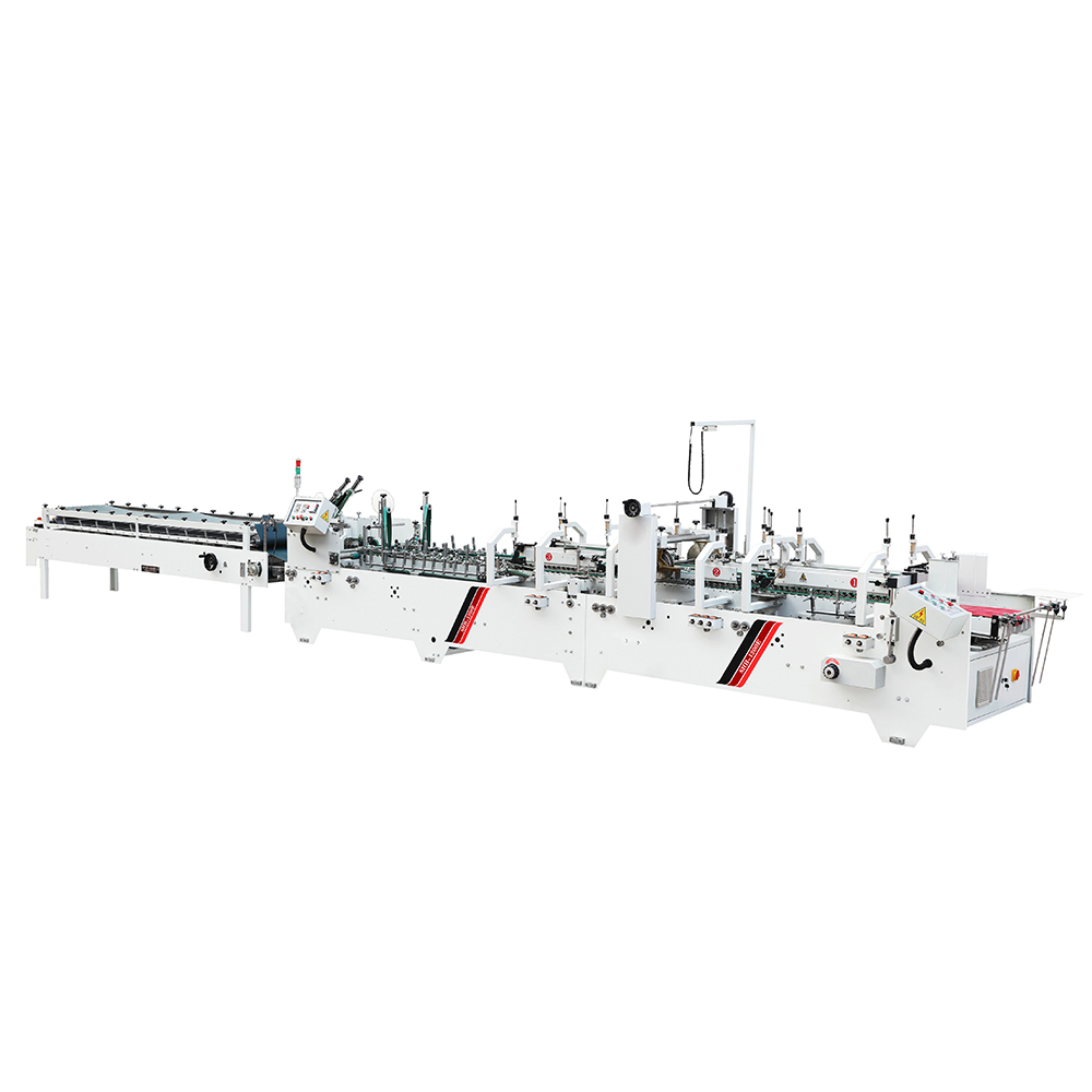 SHH-1250E Automatic Chocolate Box Folder Gluer Machine Coffee Sleeve Folding and Gluing Machine